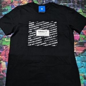 Adidas Box Logo Script Tee